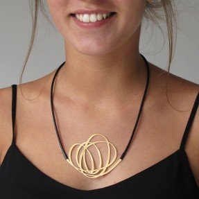 Necklace Whirl Gold by Insync