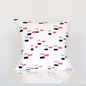 Dashes Cushion Cover in Watermelon