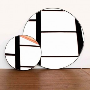 Black Outline Mirror - Clear Glass