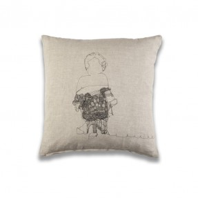 Ms Charming Cushion - Natural Linen