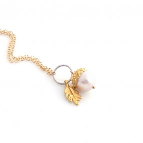 Acorn Necklace Gold