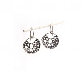 Small Lace Disk Earrings