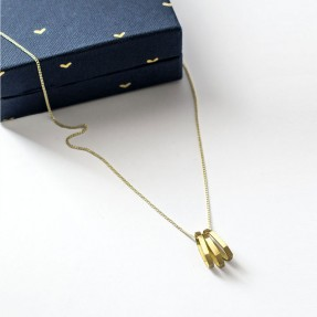 Elongated Hex Necklace by Love Hate
