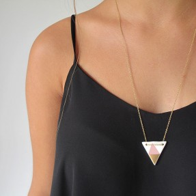 Porcelain Triangle Necklace by Love Hate