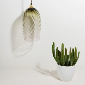 Twist Pendant Lamp Eel Green