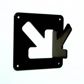 A Coat Hook - 1 Hook Black