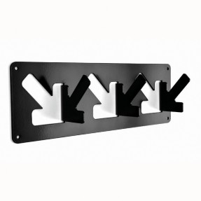 A Coat Hook - 3 Hook Black