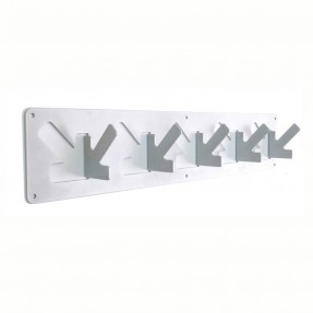 A Coat Hook - 5 Hook White