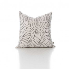 White Thatch Silk Cushion