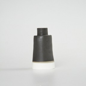 Black Ceramic Candle Stick by Renee Boyd