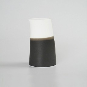Black Ceramic Jug Tall by Renee Boyd