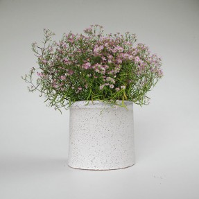 Stoneware Planter Light Grey by Renee Boyd