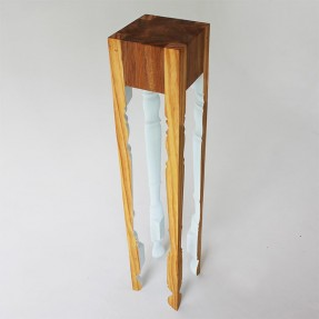 Leggy Newel - Rimu & Pine by Rupert Herring