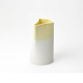 Pour Ceramic Jug Yellow/White