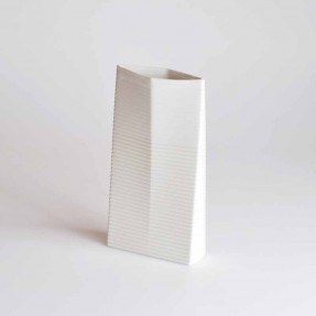 Ceramic Vase 2 to 1 White/White