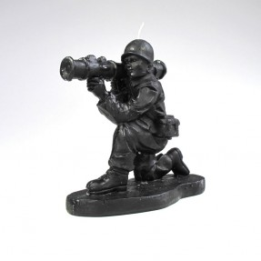 Army Man Candle - Black