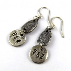 Silver Numbers Earrings