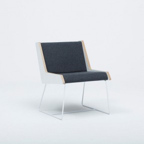 Jet Chair Charcoal Wool Felt