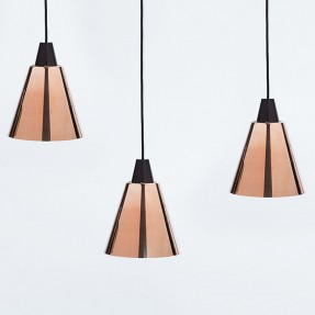 Tri-Ampel Pendant Copper Group