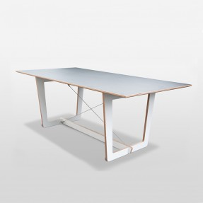 Trestle Dining Table White