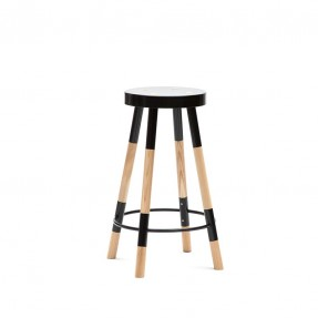 Y Stool 650/750mm by Tim Webber Design Black