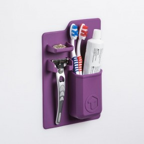 Toothbrush holder purple