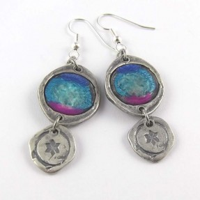Tuquoise Mica Earrings