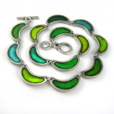 Green Segments Necklace