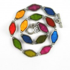 Diamond Necklace Multicoloured