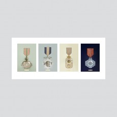 At Your Service Medal Set Print