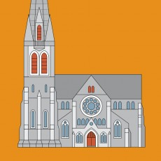 Christchurch Cathedral Graphic Print