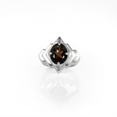 Cocktail Ring - Smokey Quartz