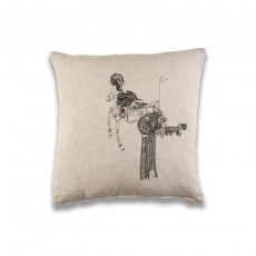 At a Glance Cushion - Natural Linen