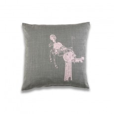 At A Glance Cushion - Grey Wool