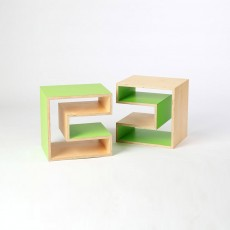 Cube (Table, Stool, Shelf) - Green