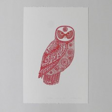 Red Owl Art Print