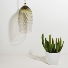 Twist Glass Lamp Eel Green