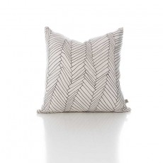 White Thatch Silk Cushion - with inner