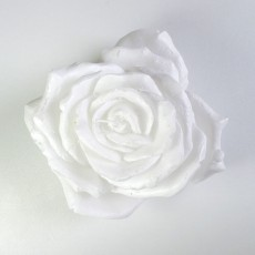Giant Rose Candle - White