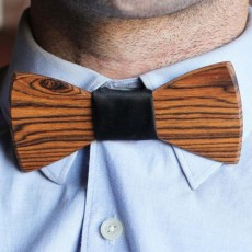 Frank Wooden Bowtie WAS $79